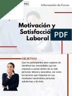Curso de Motivación y Satisfacción Laboral