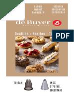 de Buyer - каталог кондитерских изделий 2019
