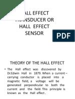 HALL EFFECT TRANSDUCER OR HALL  EFFECT SENSOR.pptx