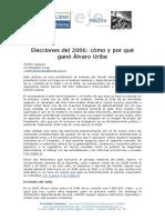 2006 VASQUEZ Como y Por Que Gano Uribe