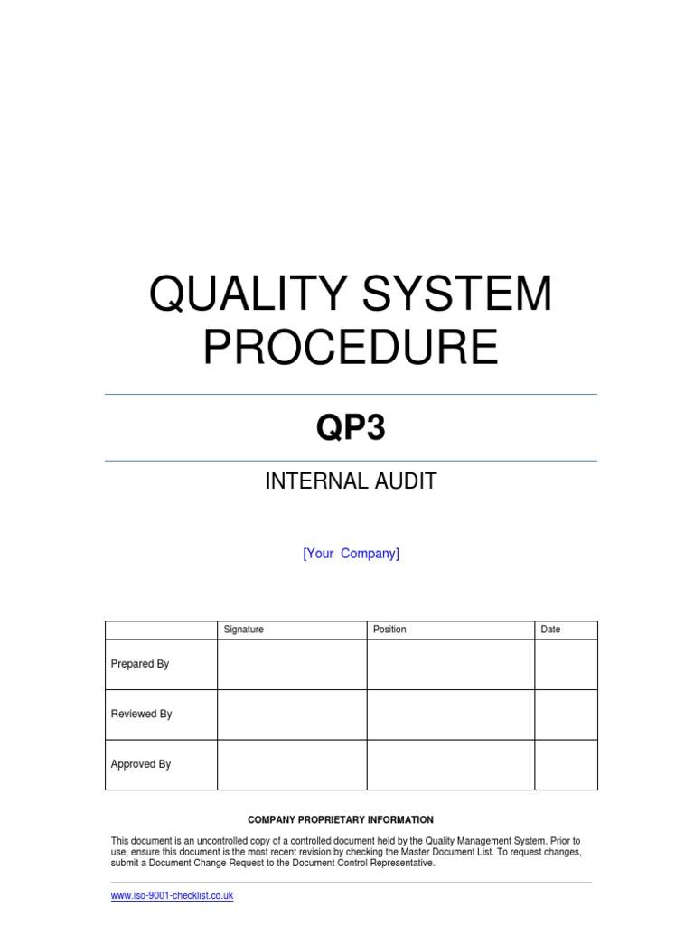 internal audit templates