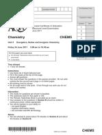 June 2011 QP - Unit 5 AQA Chemistry