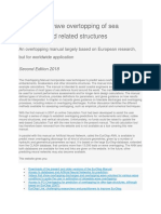 Manual on Wave Overtopping of Sea Defences and Related Structures