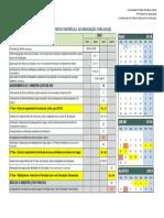 Calendário de matricula UFMG