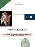 Aula 1 - Anatomia Do Tórax e Mediastino - Corrigida