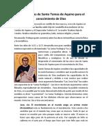 Las cinco vias de Tomaas de Aquino para el conocimiento de Dios.docx