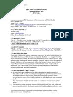 PHC 3440 Global Public Health Syllabus Spring
