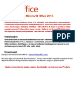 Tutorial Ativação Office 2016 Professional Plus Online e Telefone