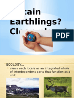 Ecology is Very Important