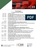 Final Program 2019 Norman Bethune Symposium