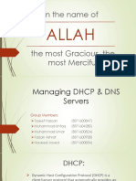 Managing DHCP & DNS Servers