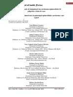 Eficácia Da Utilização de Imiquimod Em Carcinoma Espinocelular de Pálpebra