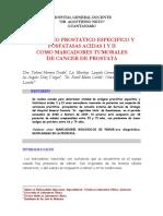 Antigeno Prostatico Especifico Y Fosfatasas Acidas I y II Como Marcadores Tumorales de Cancer de Prostata