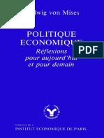 Ludwig Von Mises - Politique economique.pdf