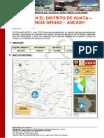 Reporte Preliminar Nº 432 01abril2019 Huaico en El Distrito de Sihuas Provincia Huaylas Ancash