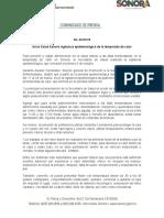 28-03-2019 Inicia Salud Sonora vigilancia epidemiológica de la temporada de calor