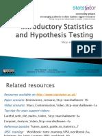 Statistics for Support Slides