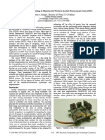 Design, Fabrication and Testing of Miniaturised Wireless Inertial Measurement Units (IMU)