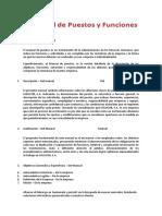 Manual de puestos y funciones en una empresa