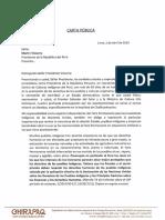 Carta Pública al Presidente de la República del Perú