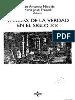 VV.aa. - Teorias de La Verdad en El Siglo XX