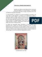 Pintura y Vida Cotidiana en El Primer Renacimiento