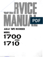 Akai 1700 Sevice Manual