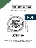 Stanton STR8-30 Owners Manual