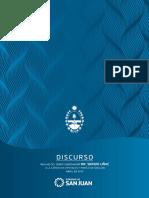 Discurso del gobernador Sergio Uñac en la Apertura de Sesiones Ordinarias