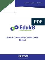 Eduk8 Community Census 2018 Report