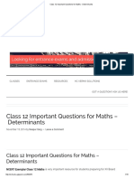 Class 12 Important Questions for Maths - Determinants2