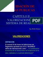 Liquidacion de Obras Publicas - Cap II - Valorizaciones y Sistema de Reajustes