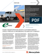 MercuryGate Case Study Evans Transportation