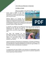 Mal Uso de Los Recursos Naturales en Guatemala
