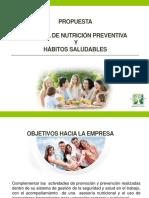 Tamizaje Nutricional y Habitos Saludables