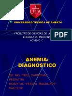 Anemia Dr. Fidel Cardenas