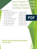 Keselamatan Pasien Terkait Dengan Keperawatan Medikal Maternitas 1-1