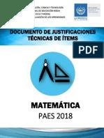 Documento de Justificación Matemática 2018