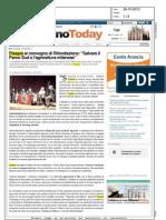 """PISAPIA AL CONVEGNO DI RIFONDAZIONE:""""SALVARE IL PARCO SUD E L'AGRICOLTURA MILANESE"""" (MILANOTODAY)"""
