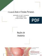 Fissuras Anais e Fístulas Perianais(1)