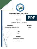 Educacion, familia y nutricion tarea 3 Elianny.docx