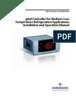 Xr75cx Digital Controller for Medium Low Temperature Refrigeration Applications Installation Operation Manual en 2125596