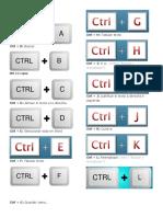 Combinaciones de Tecla de Word