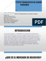3.2.1 Características de Un Mercado de Negocios