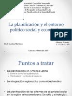 La Planificación y El Entorno Político Social