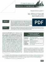TITULOS VALORES - Incompletos CAS. 2330-2006-LIMA 1era Lectura de Examen