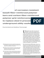 Evaluation of Corrosion-resistant Basalt-fiber-reinforced Polymer Bars