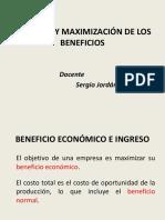 Ingresos y Maximización de beneficios