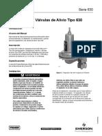 Manual 630 Series Regulators Relief Valves Es 125584