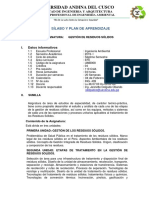 SILABUS Gestion de Residuos Solidos 2019-1